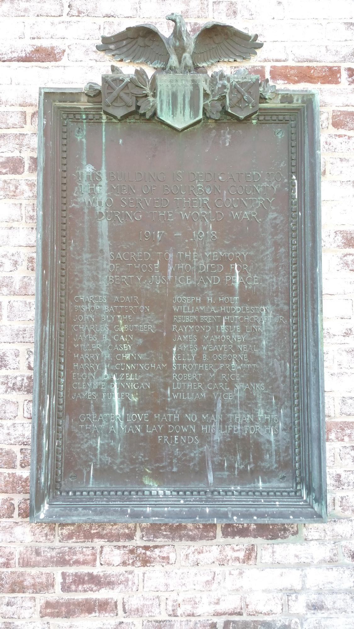Bourbon County World War I Memorial Building (KY)