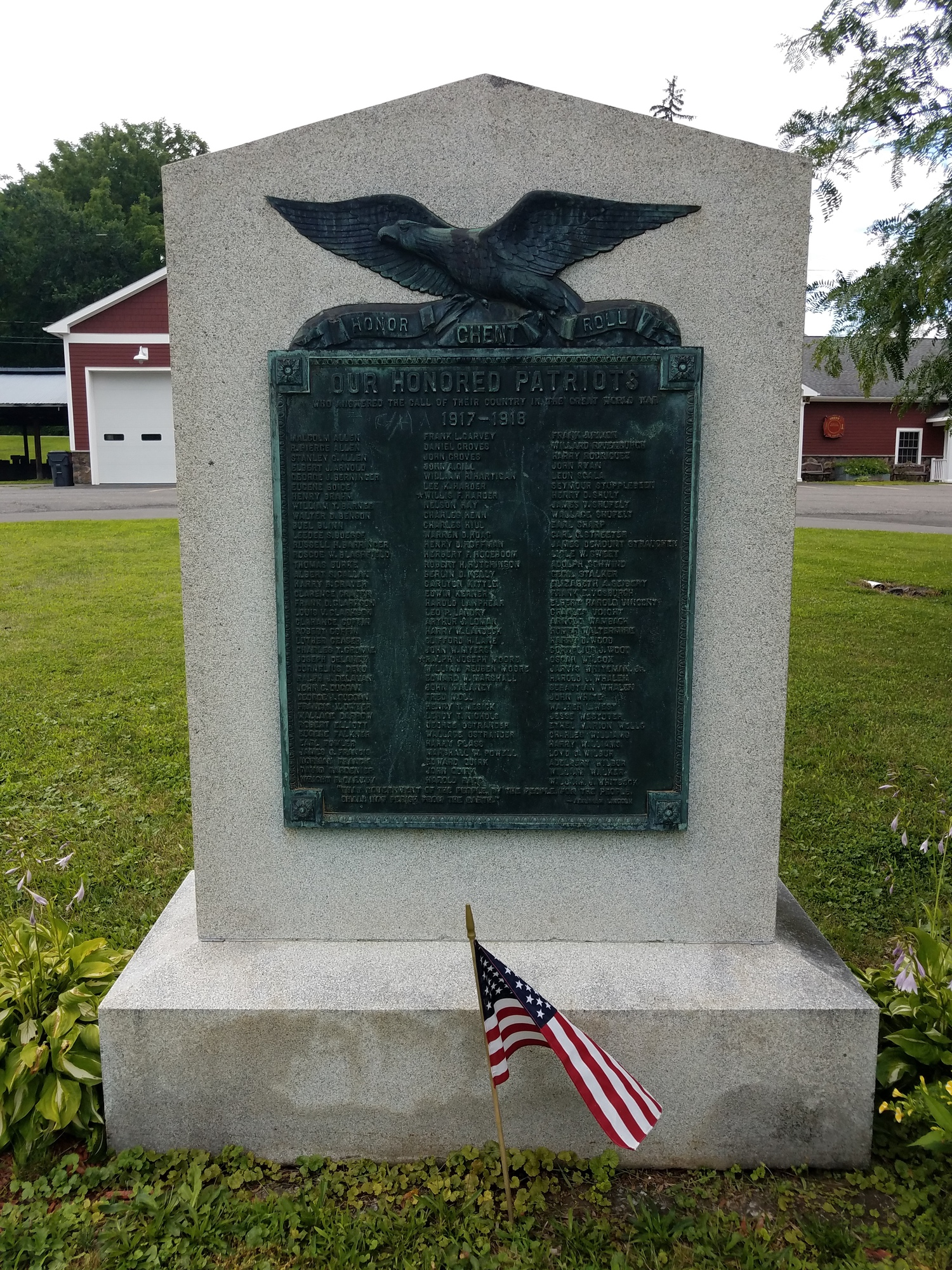 Ghent World War I Memorial Honor Roll (NY)