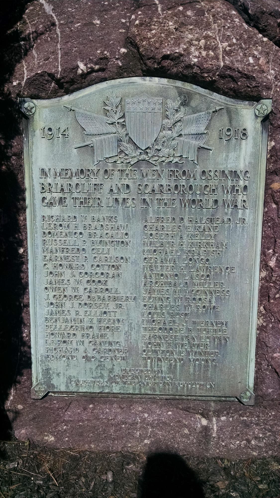 Ossining DAR World War I Memorial (NY)