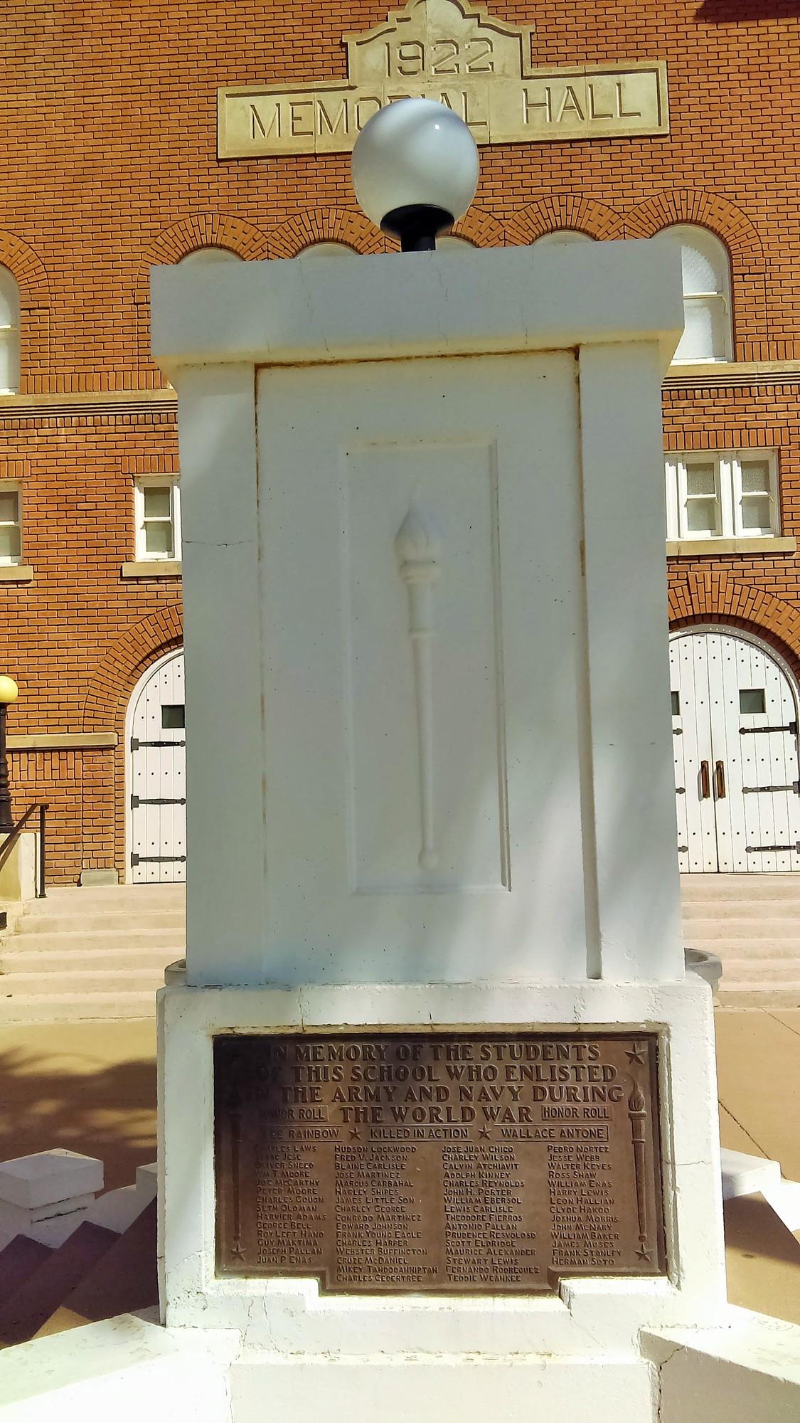 Steele Indian School Memorial Hall and World War I Memorial (AZ)