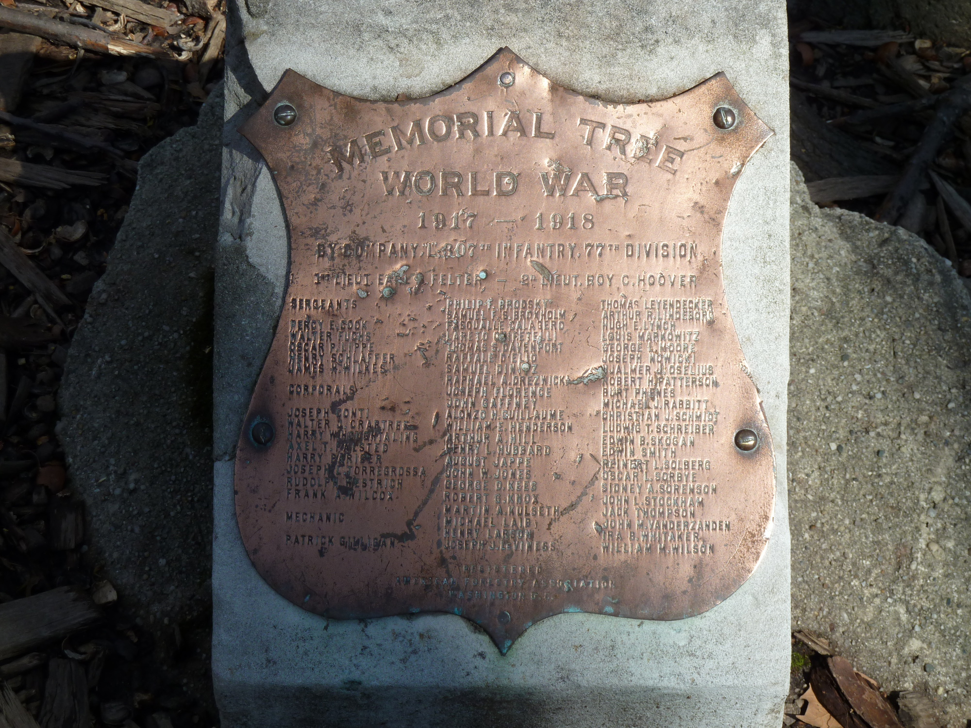 307th Infantry Regiment Memorial Grove (NY)