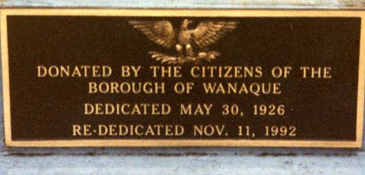 (Wanaque War Memorial)