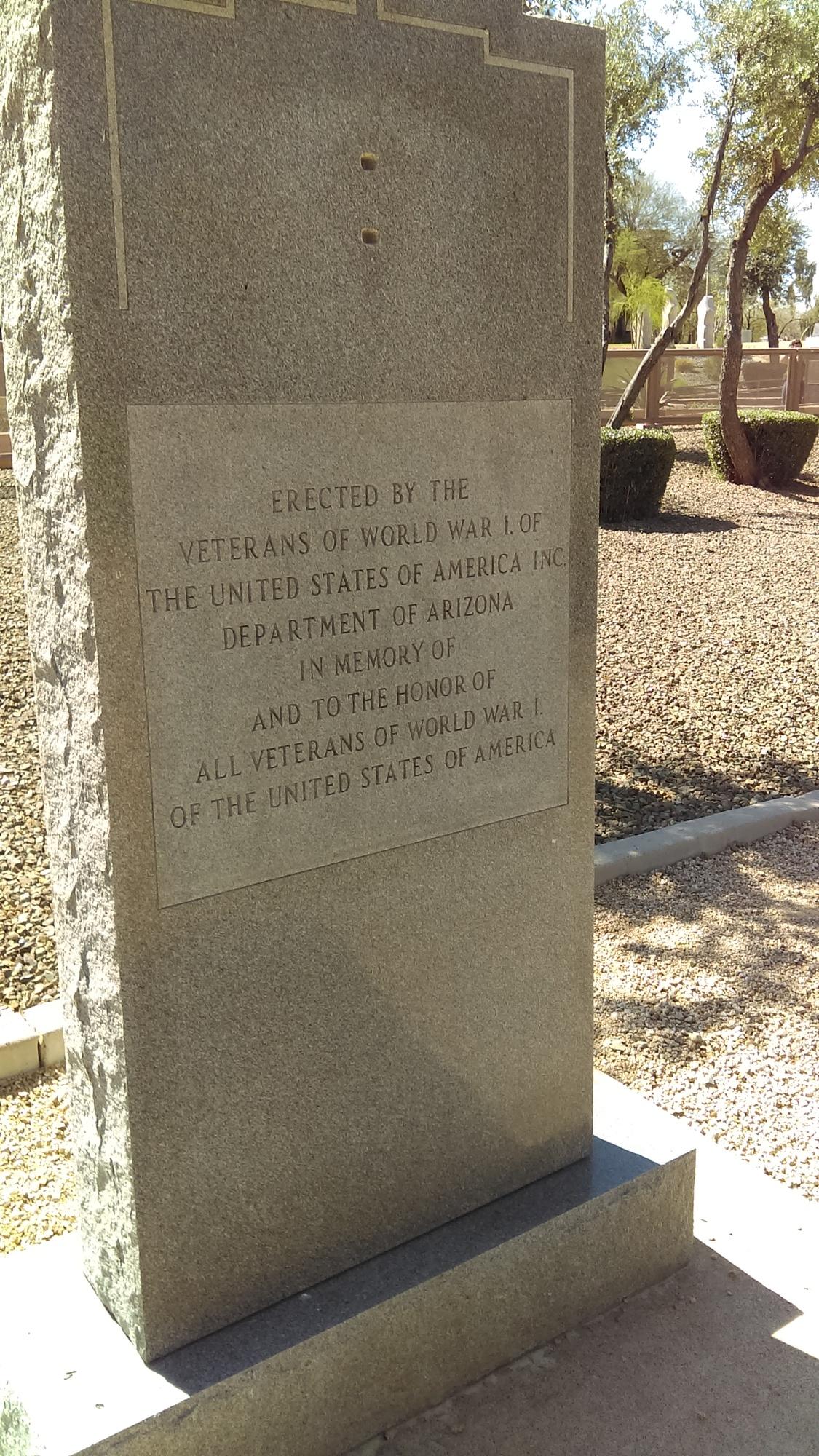 Veterans of World War I of the USA Memorial (AZ)