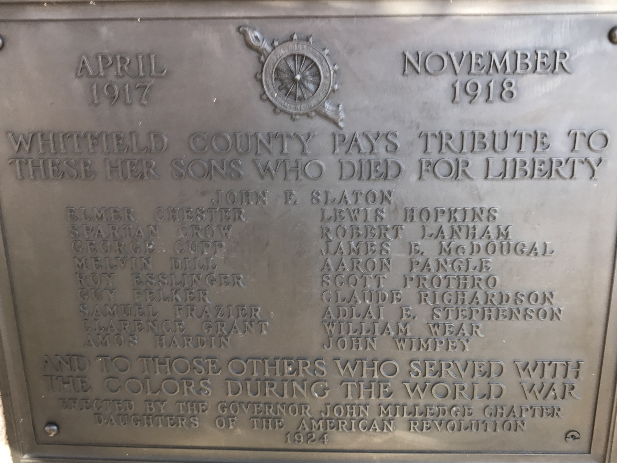 Whitfield County World War I Memorial (GA)