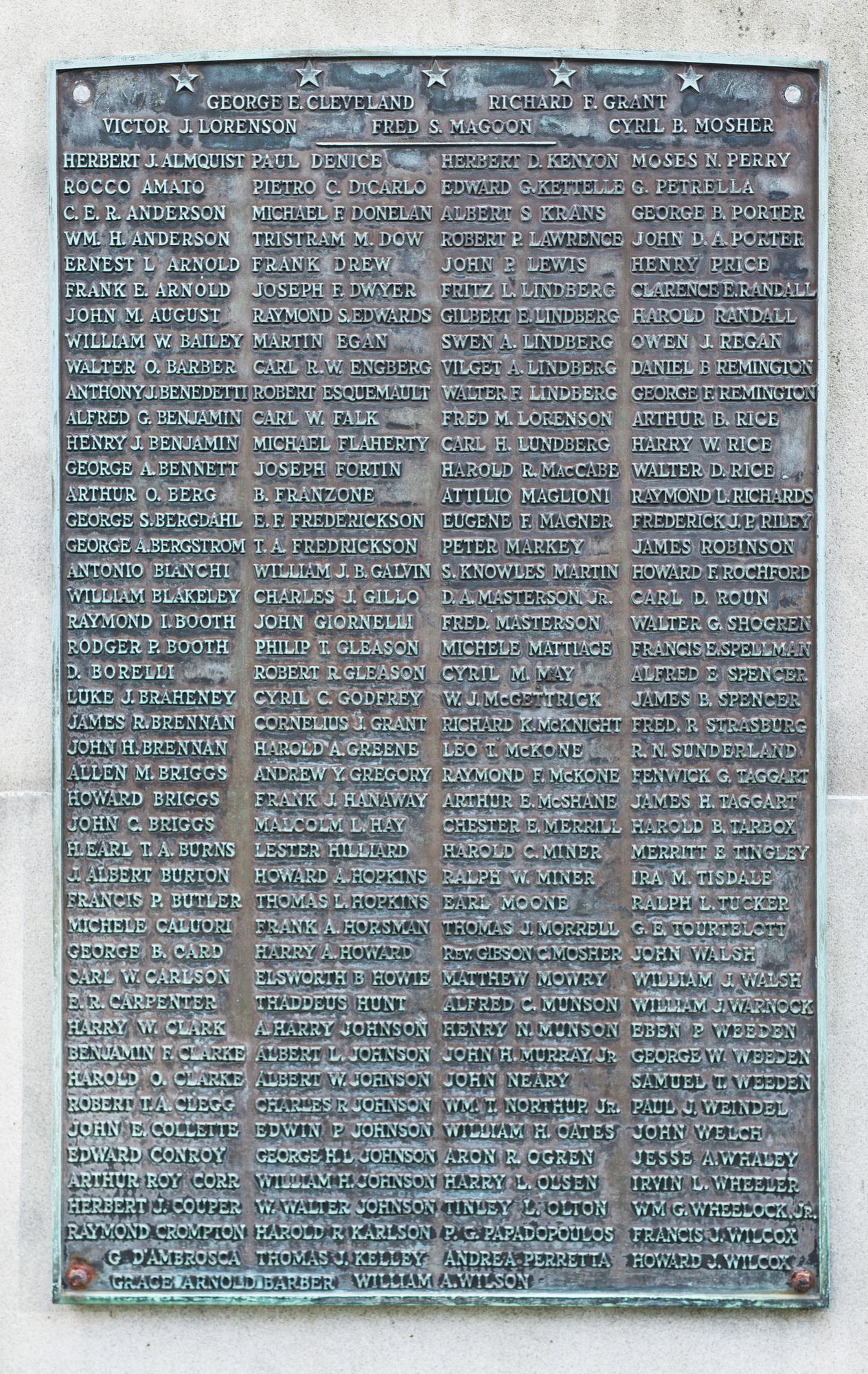 East Greenwich World War I Memorial