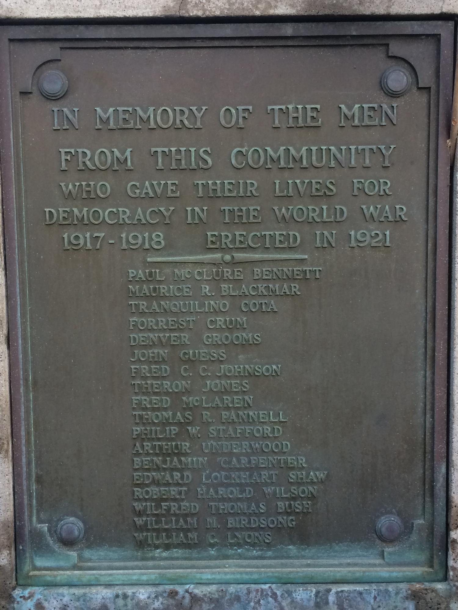 Whittier World War I Memorial (CA)