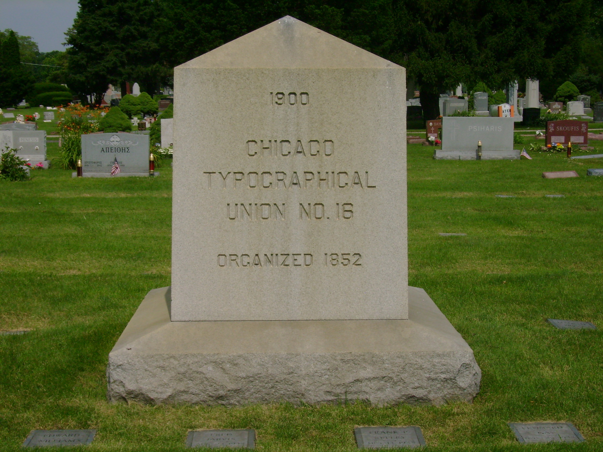Chicago Typographical Union World War I Memorial (IL)