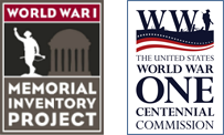 World War One Centennial Commission Logo | World War I Memorial Inventory Project Logo